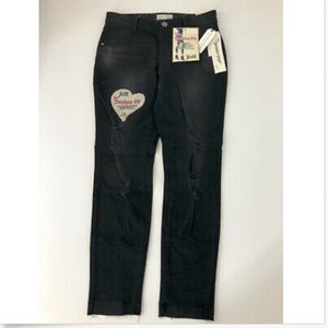Jolt Jeans 5/27W Black Techno Fit Skinny Ripped